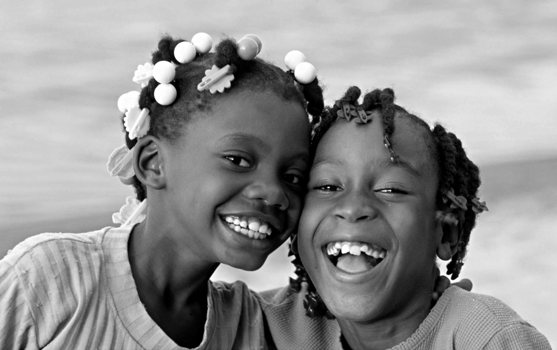 joyful smile caribbean girls