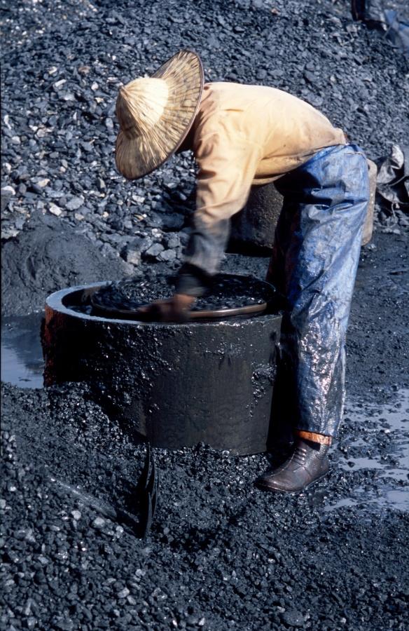 prosevani uhli vodou u skruze